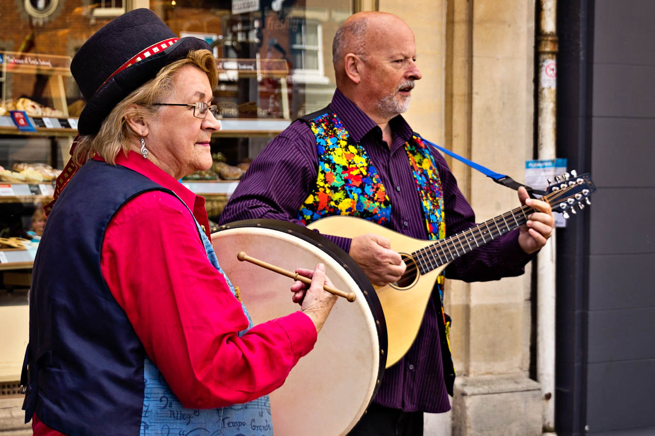 Busking in Wantage